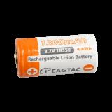 Protected 18350 3.7V 1300mAh battery (10A)